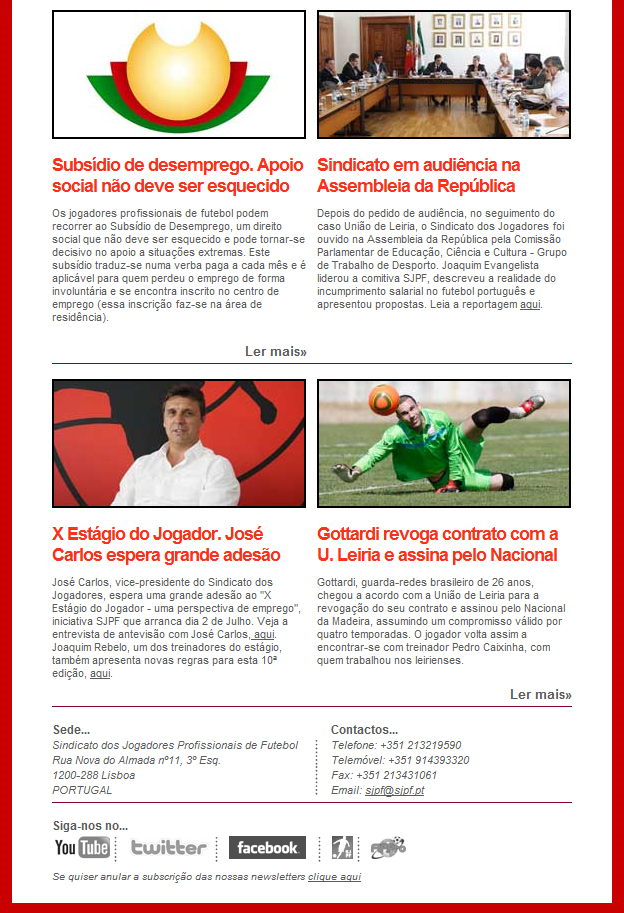 Newsletter SJPF